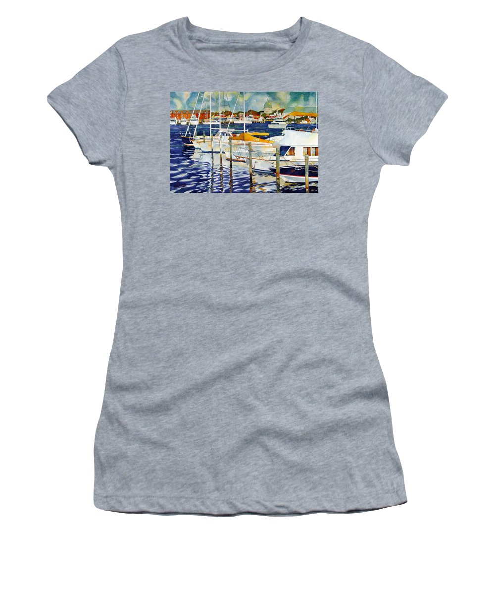 Watercolor Women's T-Shirt featuring the painting Under The Copper Dome by Mick Williams