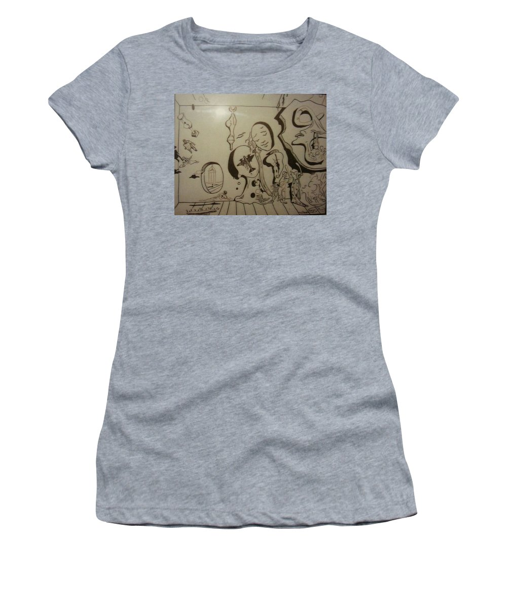 Women's T-Shirt featuring the drawing Untitled by Jude Darrien