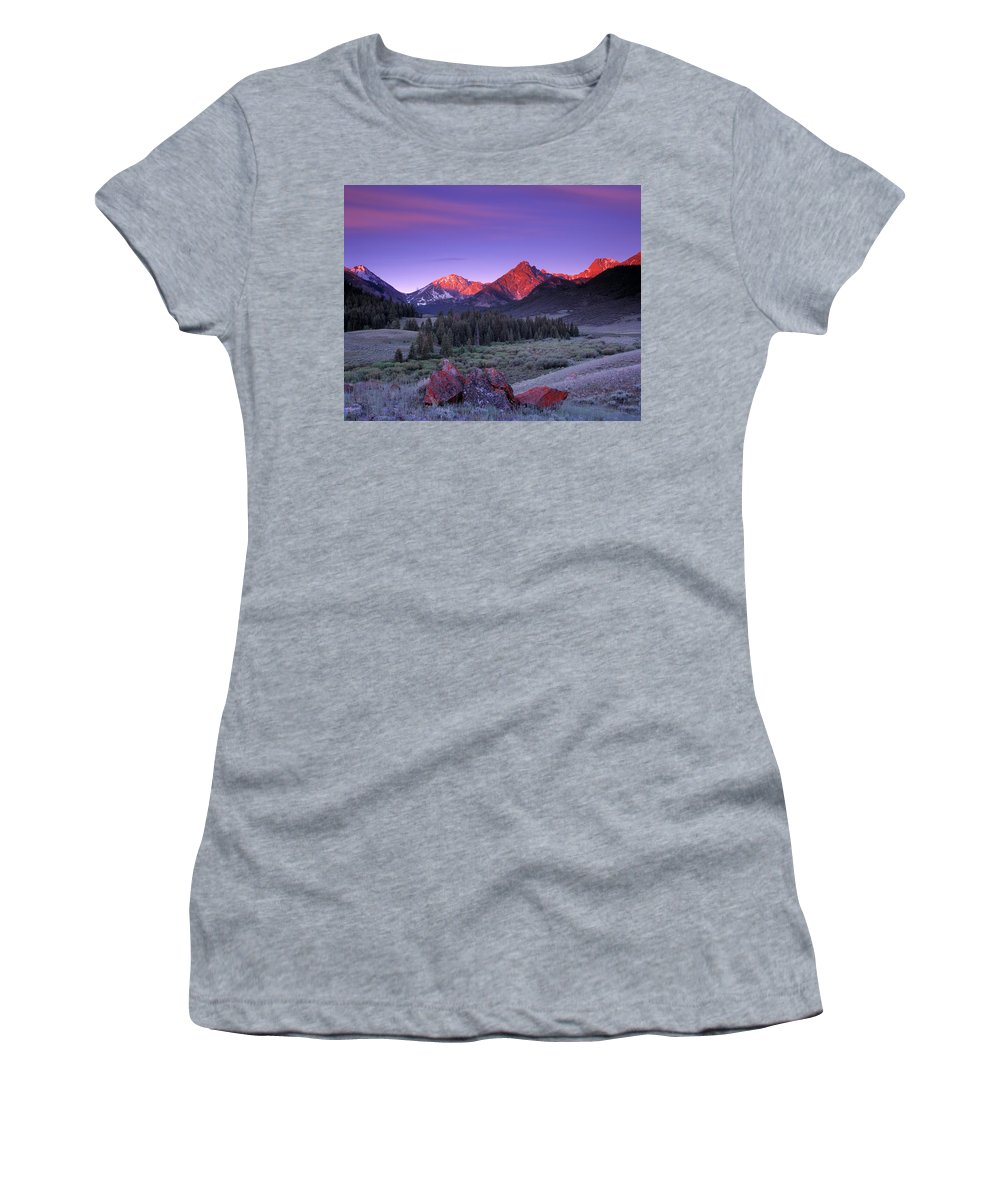 Upper Pahsimeroi Women's T-Shirt (Athletic Fit) featuring the photograph Upper Pahsimeroi by Leland D Howard