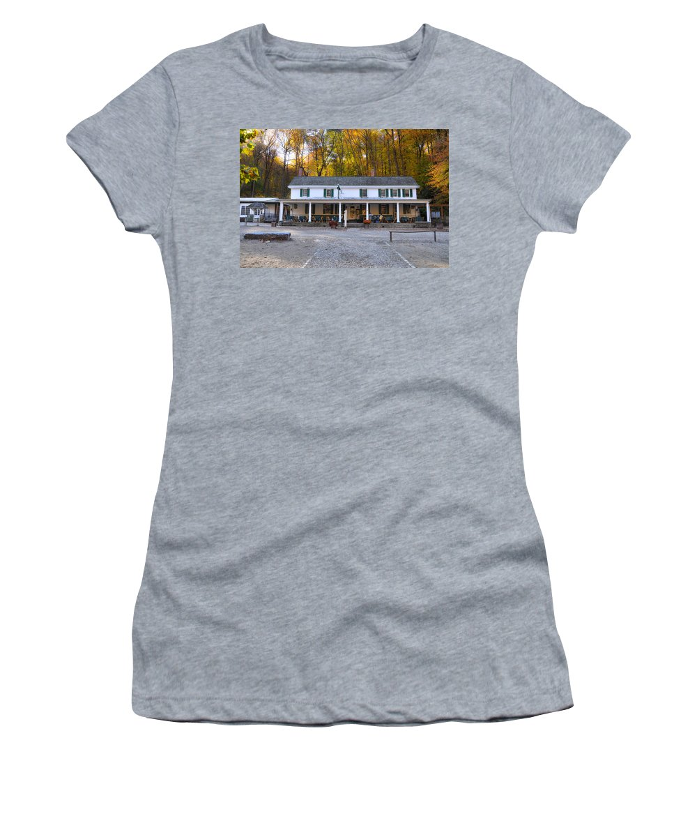 Valley Women's T-Shirt featuring the photograph Valley Green Inn - Forbidden Drive by Bill Cannon