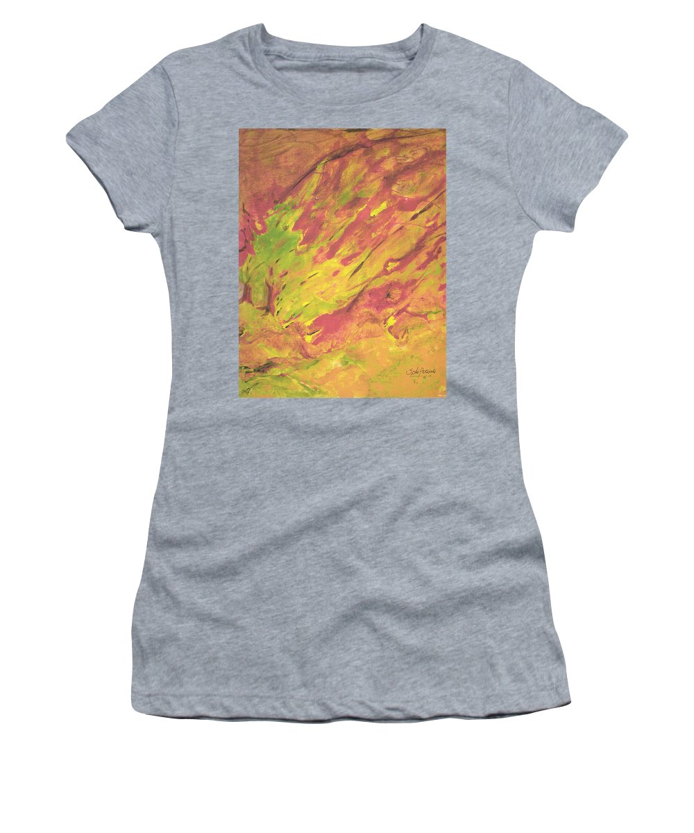 Fire Women's T-Shirt (Athletic Fit) featuring the painting Vanishing Forest by Sole Avaria