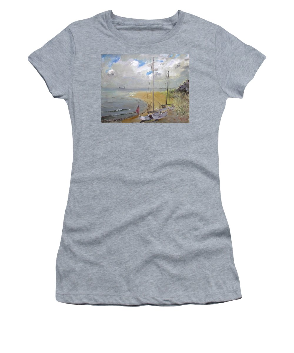 Virginia Beach Women's T-Shirt featuring the painting Viola In Virginia Beach by Ylli Haruni