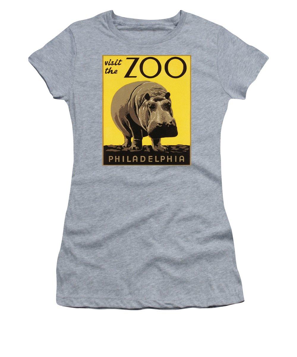 Visit The Philadelphia Zoo Women's T-Shirt featuring the photograph Visit The Philadelphia Zoo by Bill Cannon