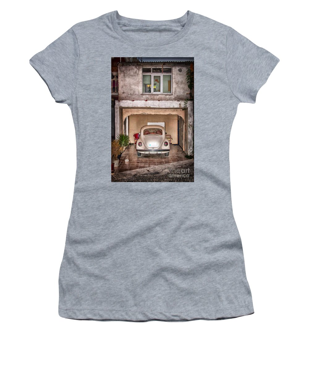 Car Women's T-Shirt featuring the photograph Vw Beetle by Antony McAulay