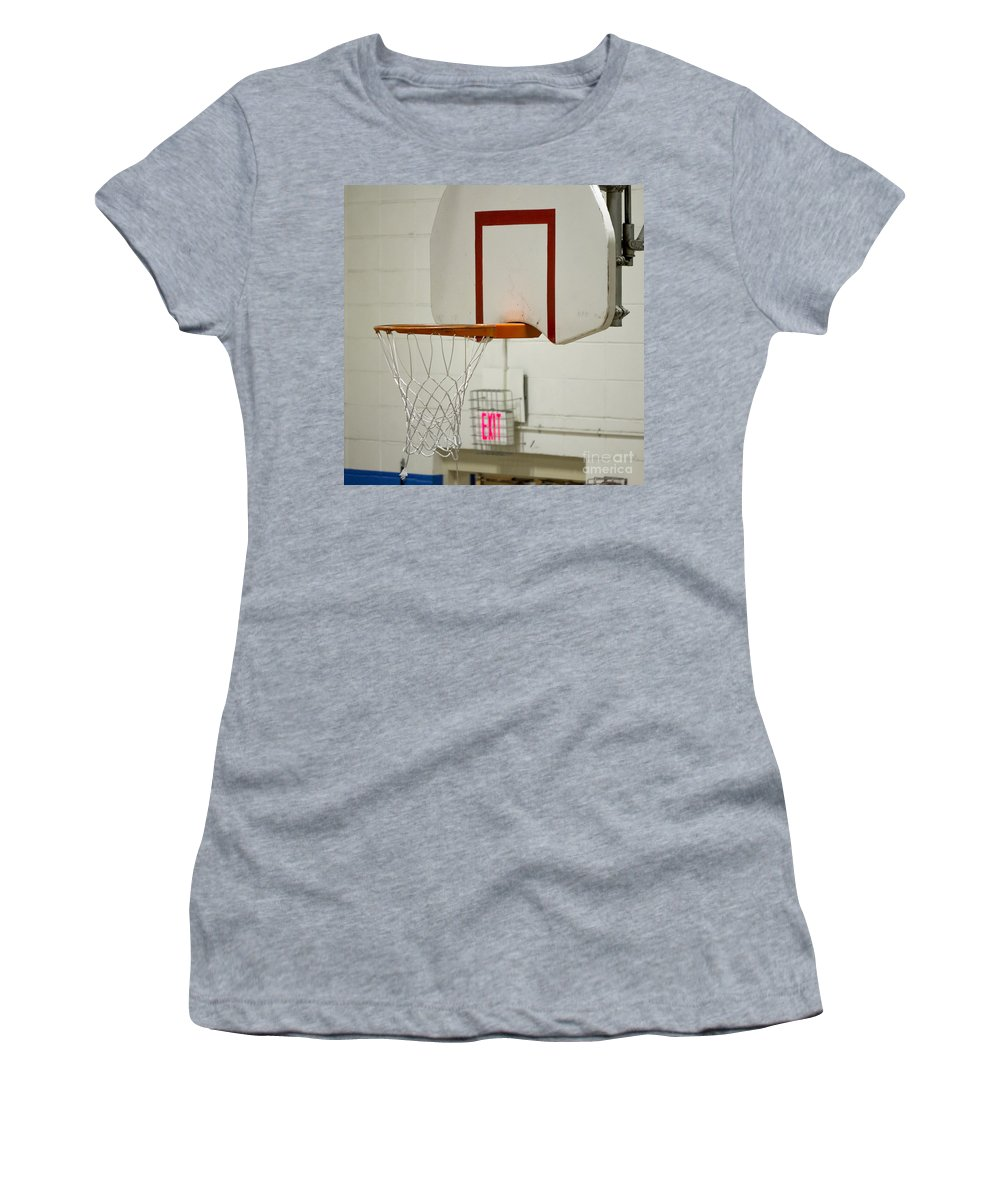 Cherokee Women's T-Shirt (Athletic Fit) featuring the photograph Waiting For The Ball by Steven Ralser