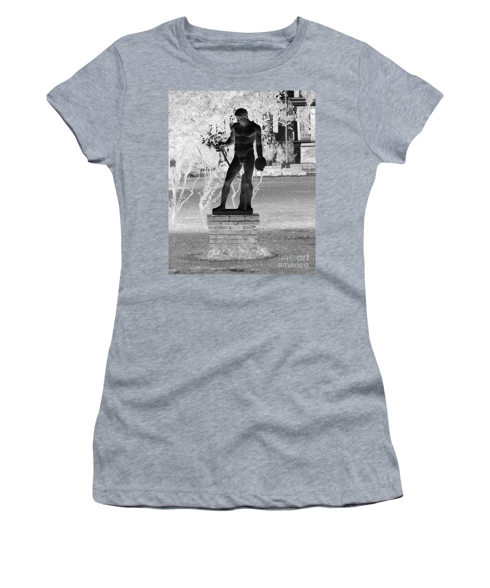 Greek Women's T-Shirt (Athletic Fit) featuring the photograph Waiting To Throw by John W Smith III