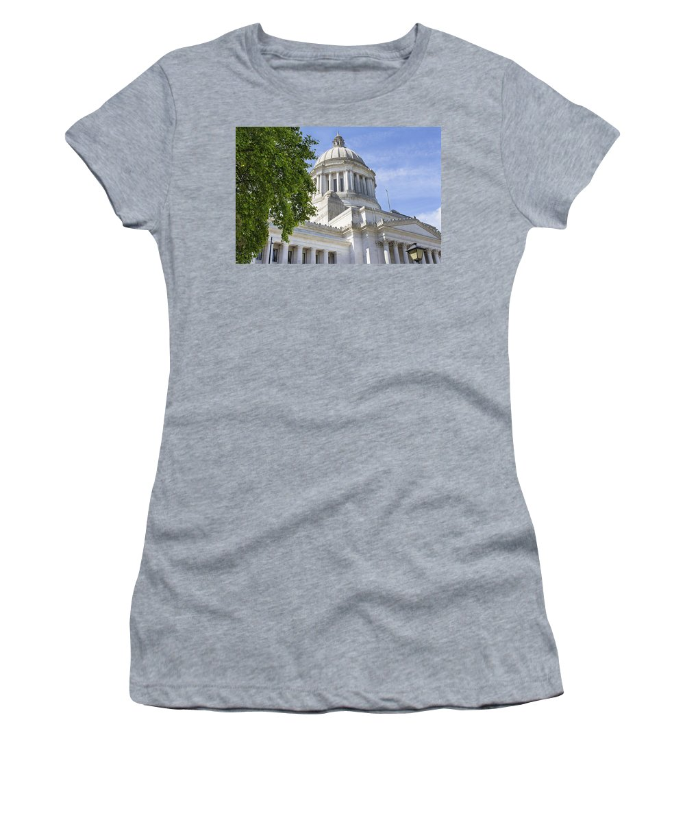 Olympia Women's T-Shirt featuring the photograph Washington State Capitol Building by Jit Lim