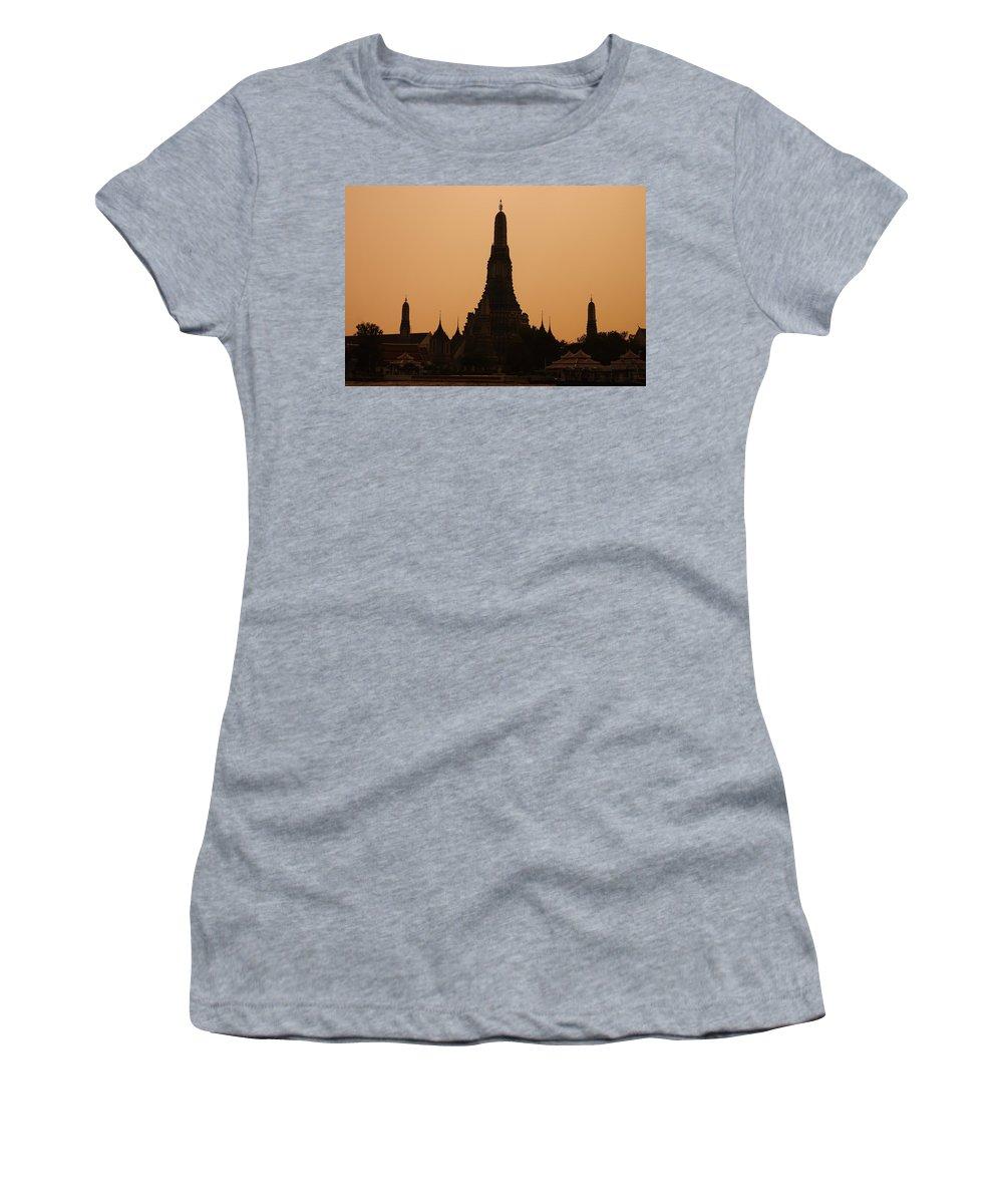 3scape Photos Women's T-Shirt featuring the photograph Wat Arun by Adam Romanowicz