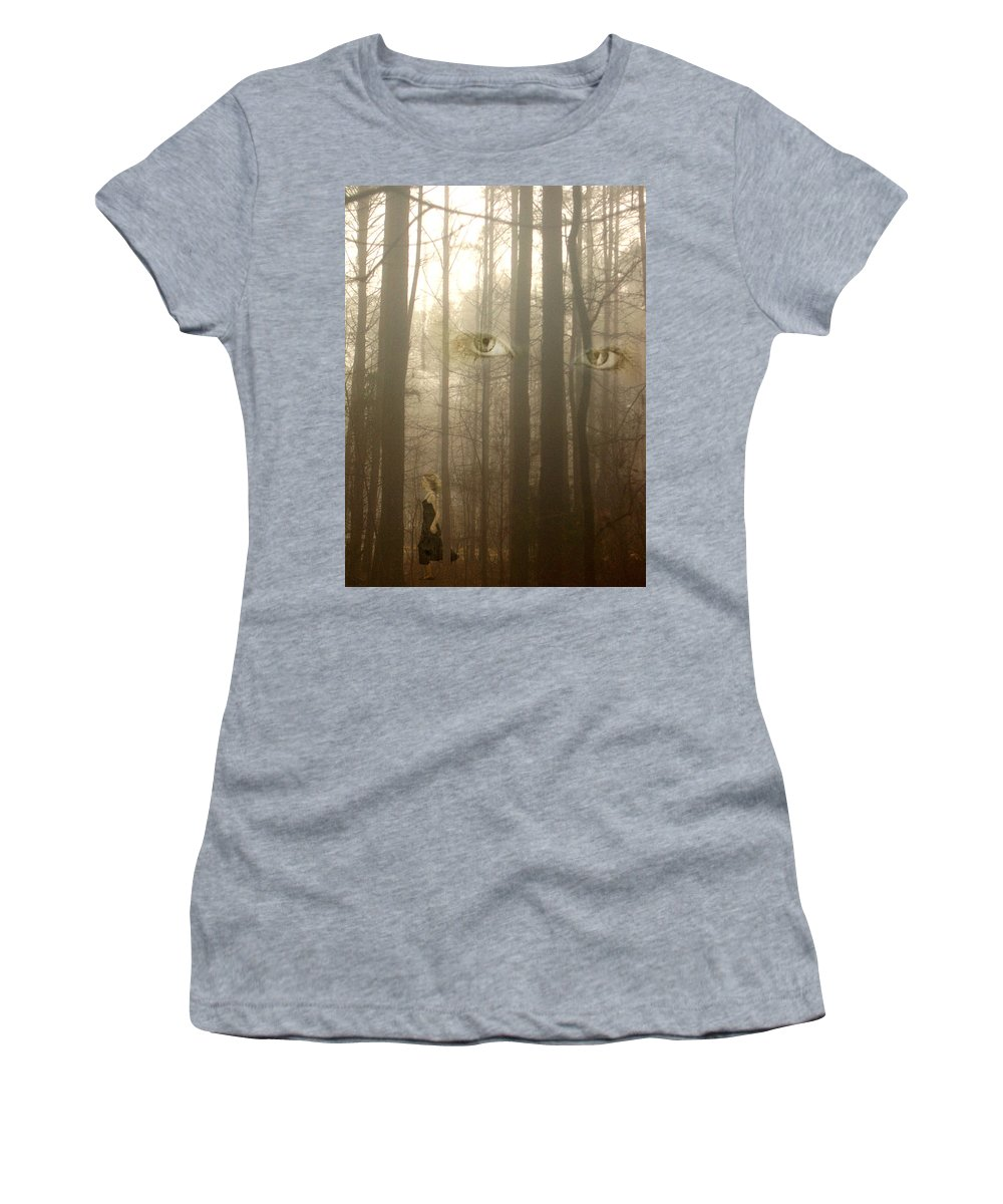 Eyes Women's T-Shirt featuring the photograph Watching by Jan Marvin