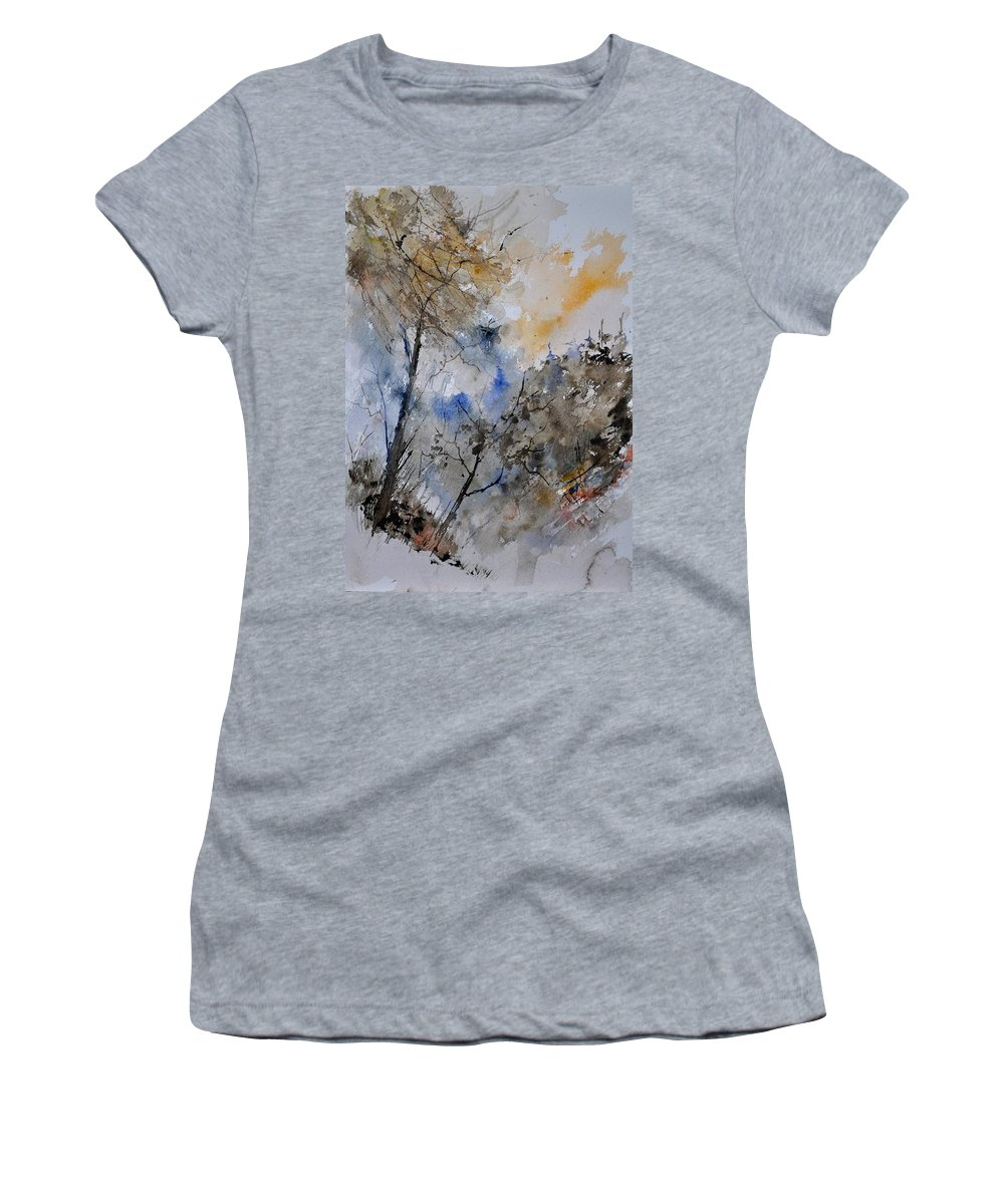 Landscape Women's T-Shirt featuring the painting Watercolor 45319051 by Pol Ledent