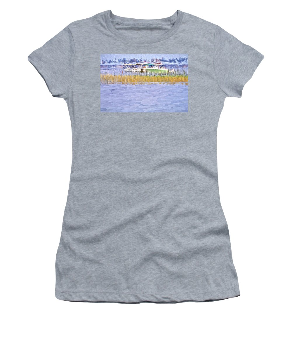 Waterscape Women's T-Shirt featuring the photograph Watergrasses by Alice Gipson