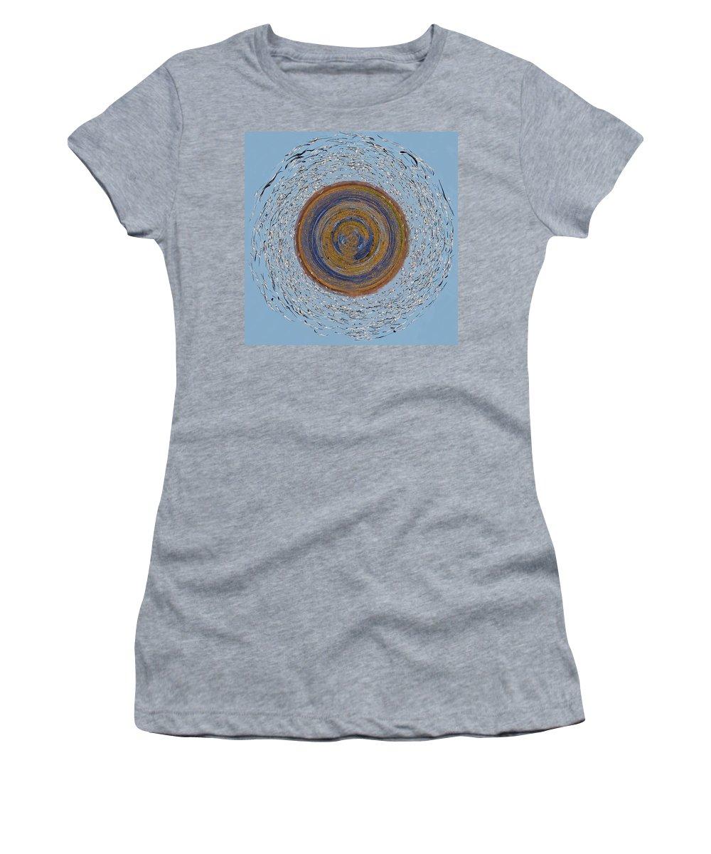 Birds Women's T-Shirt featuring the photograph Waterworld Vs The Birds by Gary Holmes