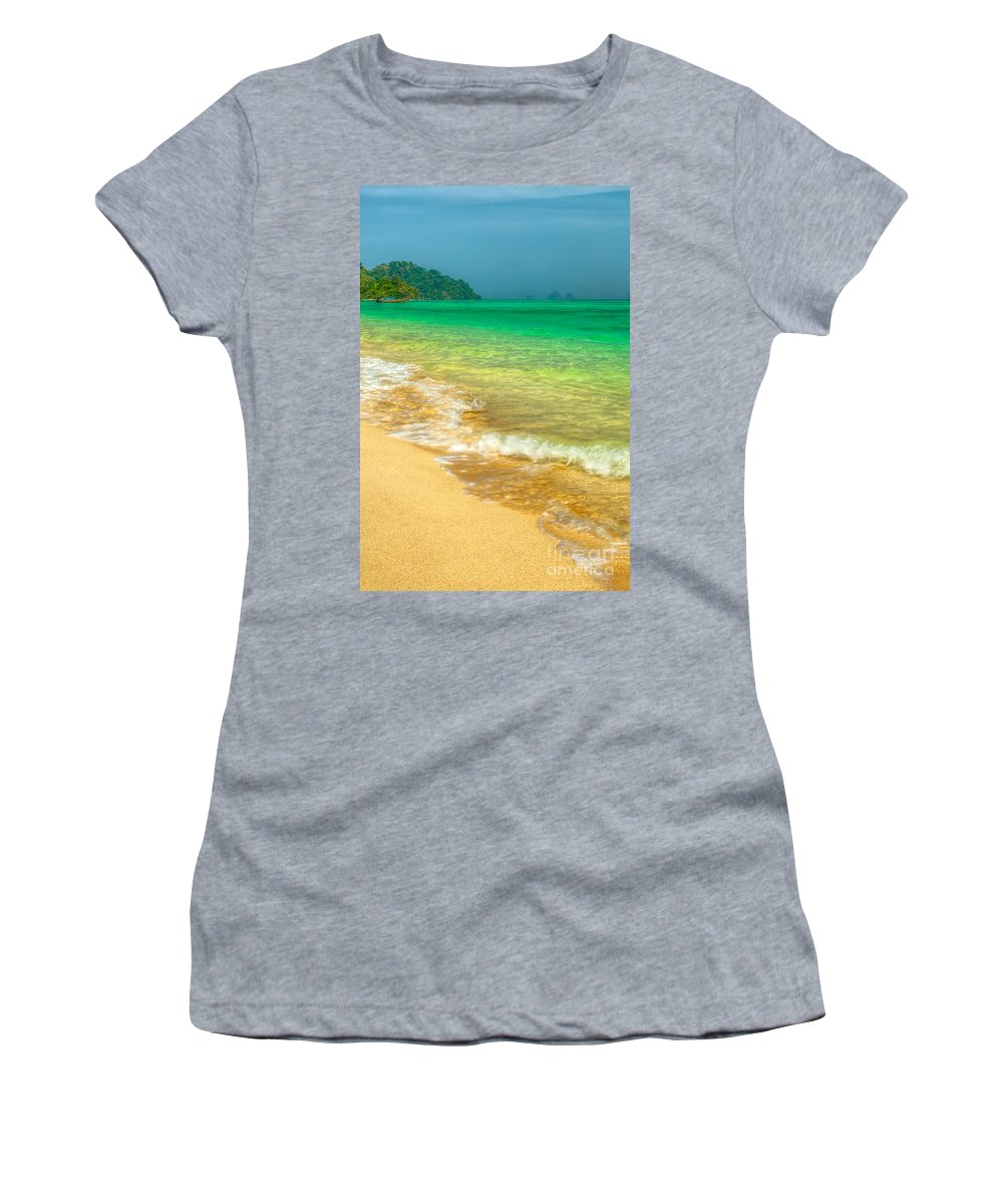 Asia Women's T-Shirt (Athletic Fit) featuring the photograph Waves by Adrian Evans