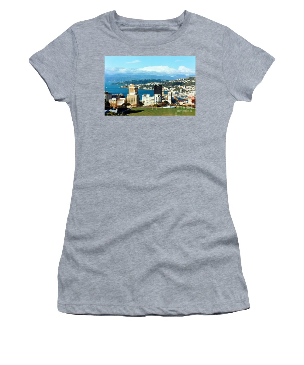 Wellington Women's T-Shirt (Athletic Fit) featuring the photograph Wellington by Lydia Holly