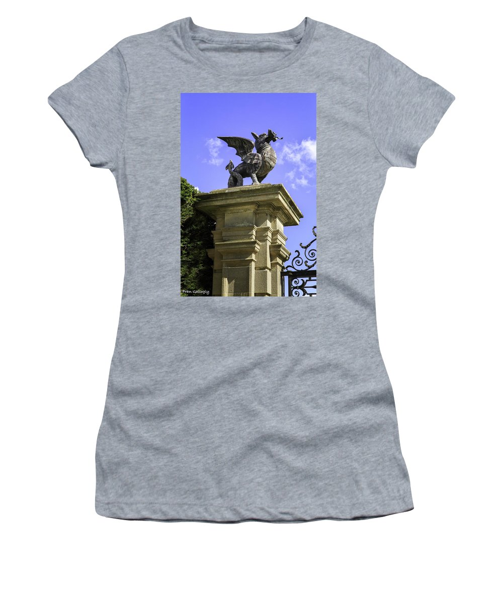 Wale Women's T-Shirt featuring the photograph Welsh Dragon by Fran Gallogly