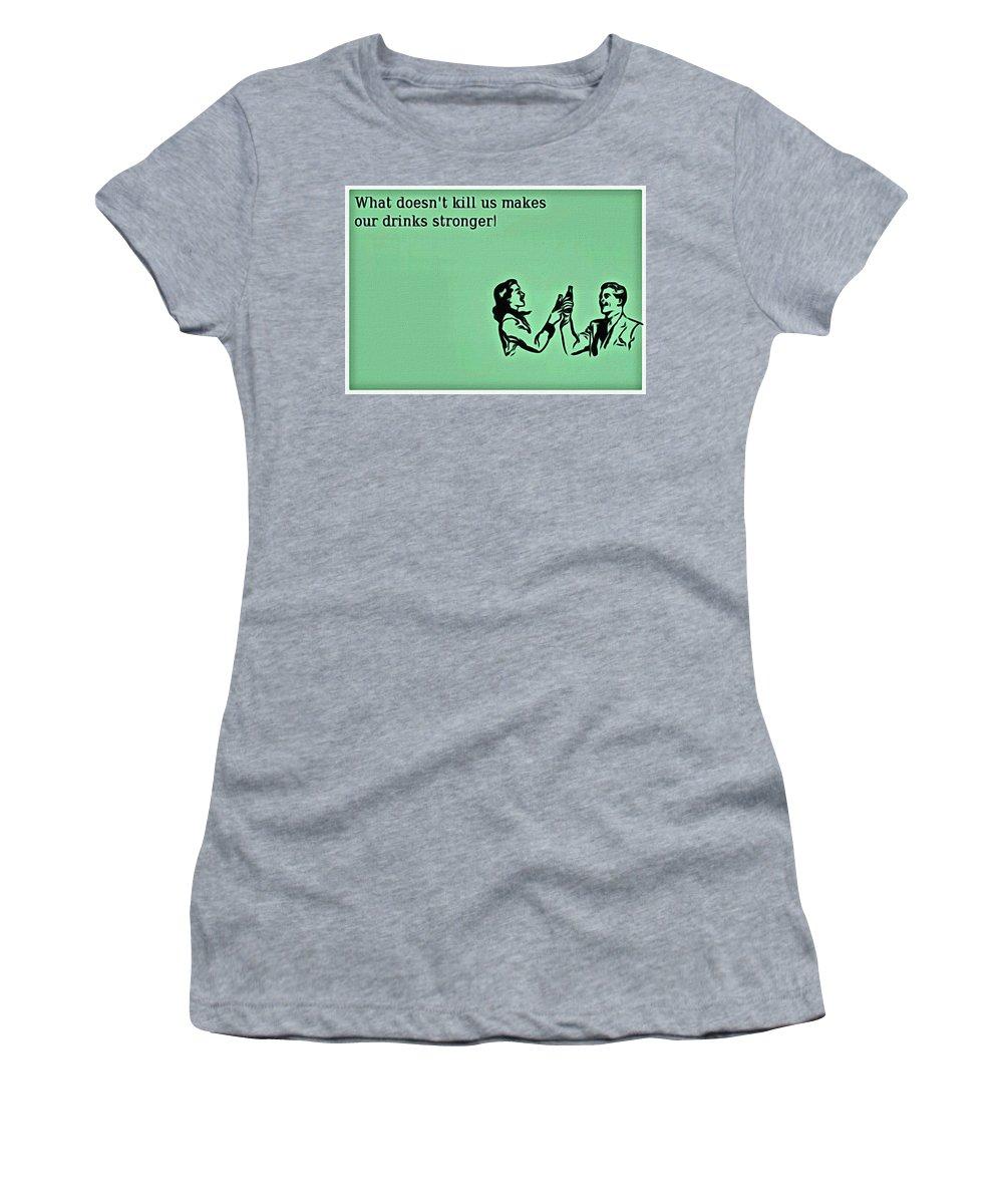 What Doesn't Kill You Women's T-Shirt featuring the painting What Doesn't Kill You by Florian Rodarte