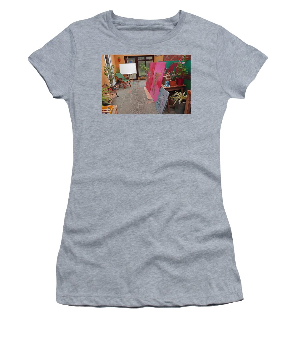 Safai Women's T-Shirt featuring the painting What Ever Next by Charles Stuart