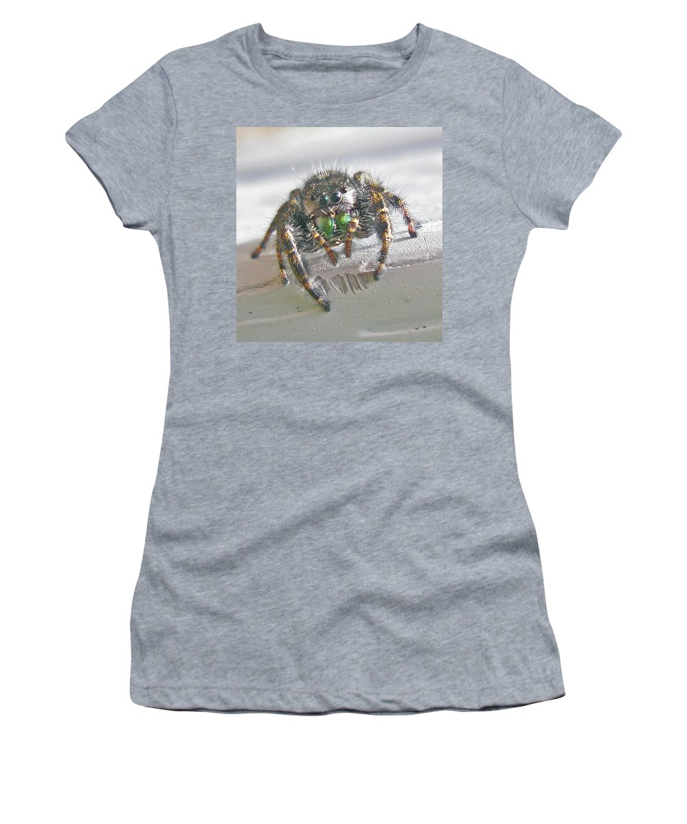 Spider Women's T-Shirt (Athletic Fit) featuring the photograph Where'd You Get Those Eyes by Mother Nature
