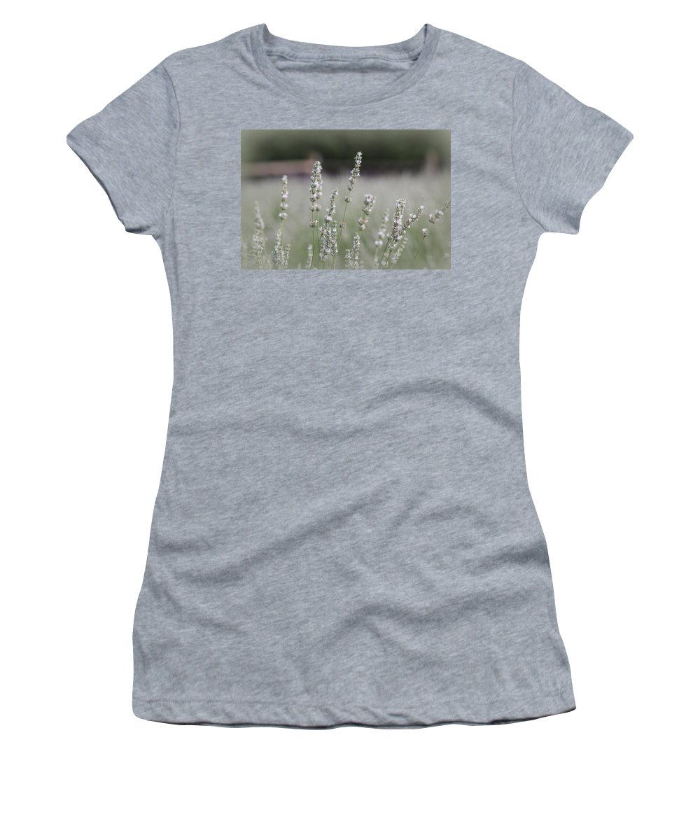 White Lavender Women's T-Shirt (Athletic Fit) featuring the photograph White Lavender by Lynn Sprowl