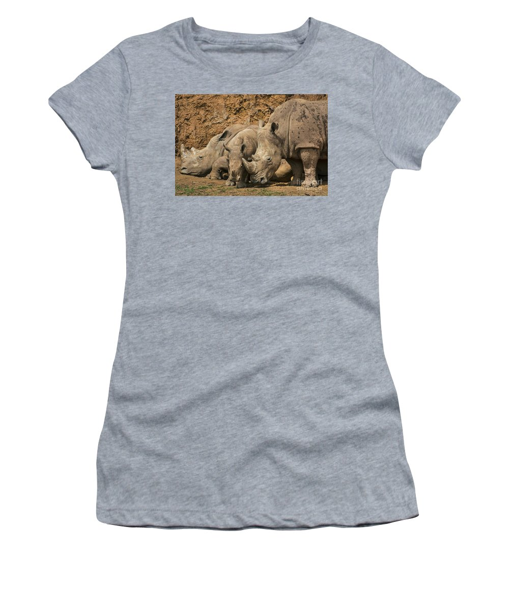 White Rhino Women's T-Shirt featuring the photograph White Rhino 3 by Arterra Picture Library