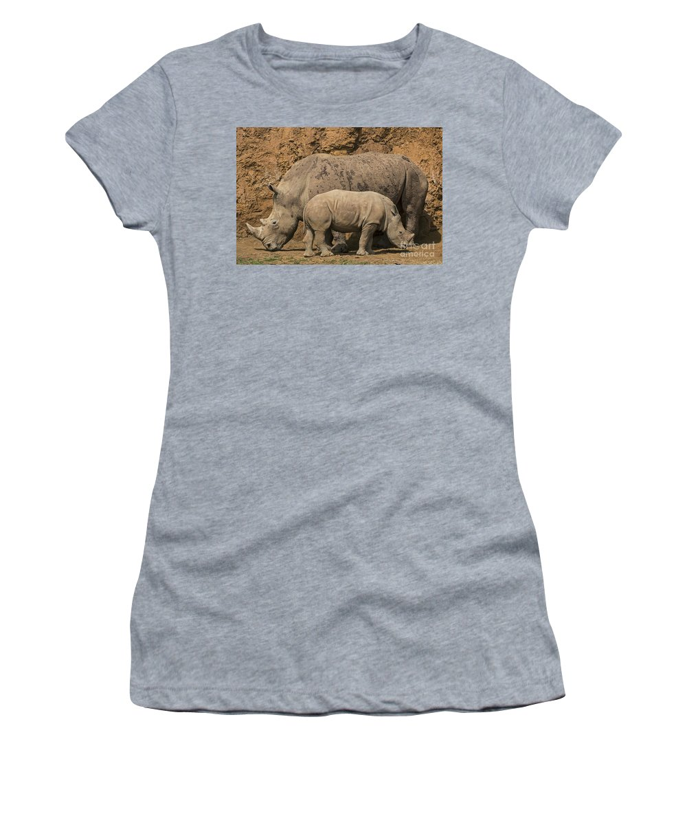 White Rhino Women's T-Shirt featuring the photograph White Rhino 4 by Arterra Picture Library