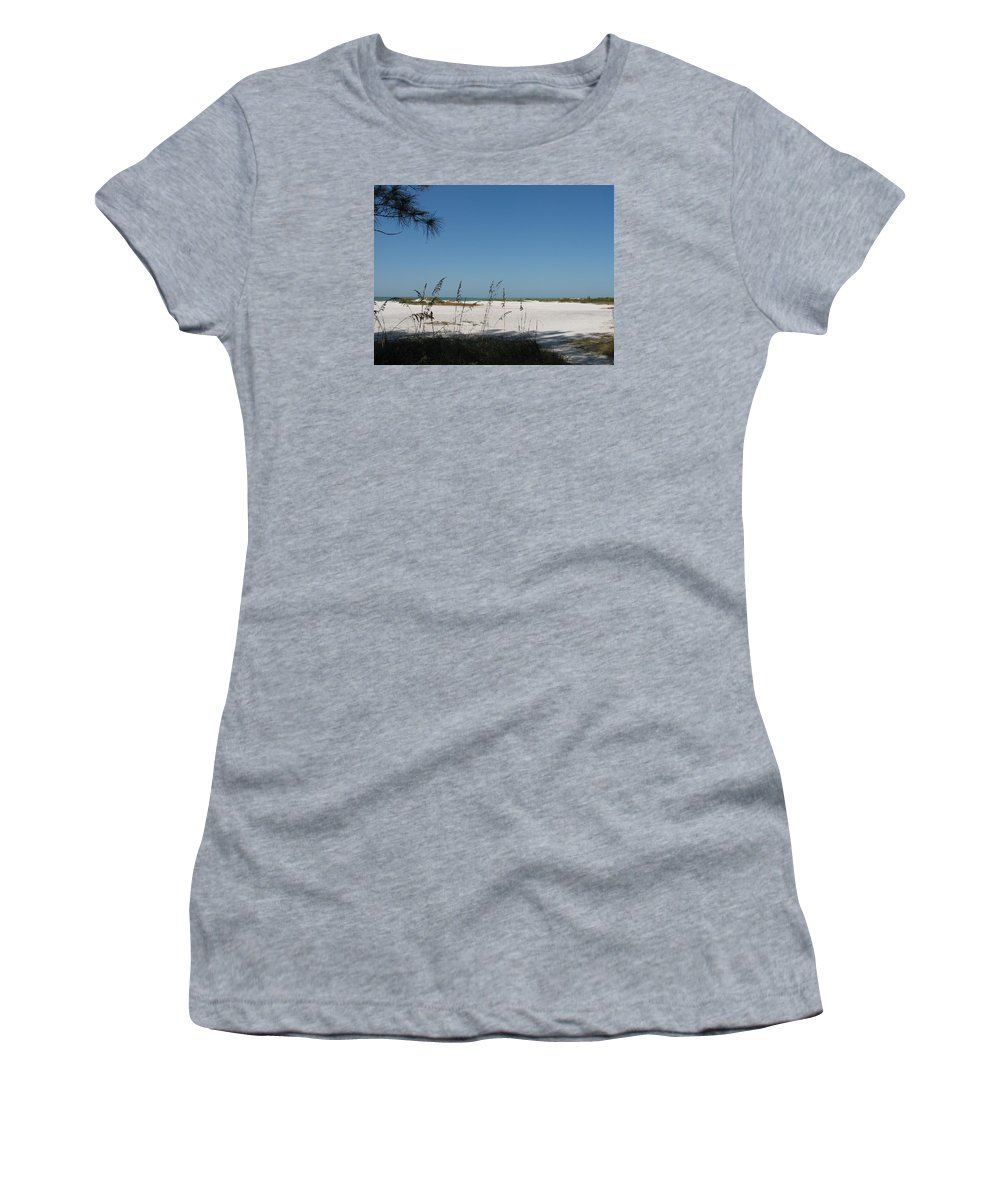 Beach Women's T-Shirt (Athletic Fit) featuring the photograph Whitesand Beach by Christiane Schulze Art And Photography