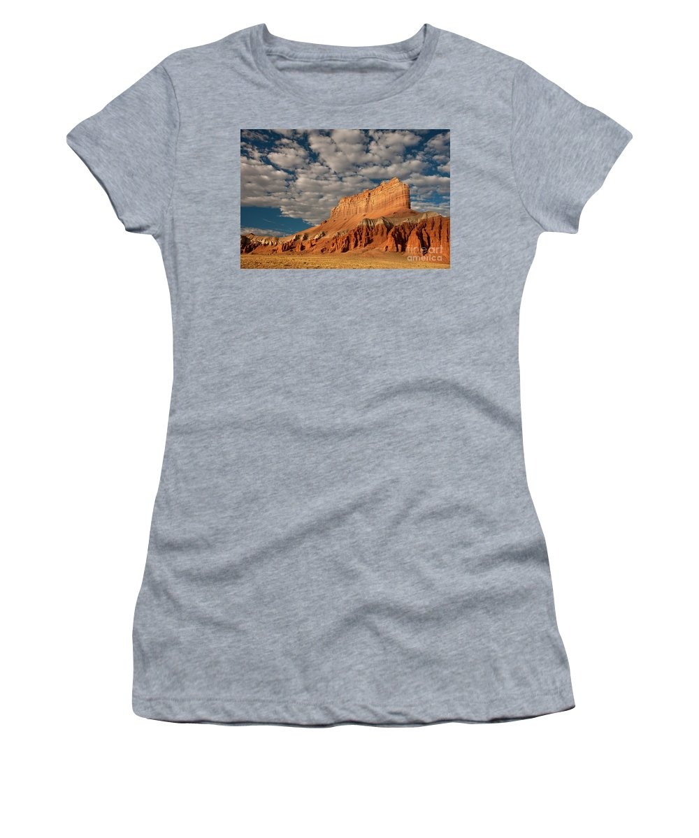 North America Women's T-Shirt (Athletic Fit) featuring the photograph Wild Horse Butte Goblin Valley Utah by Dave Welling