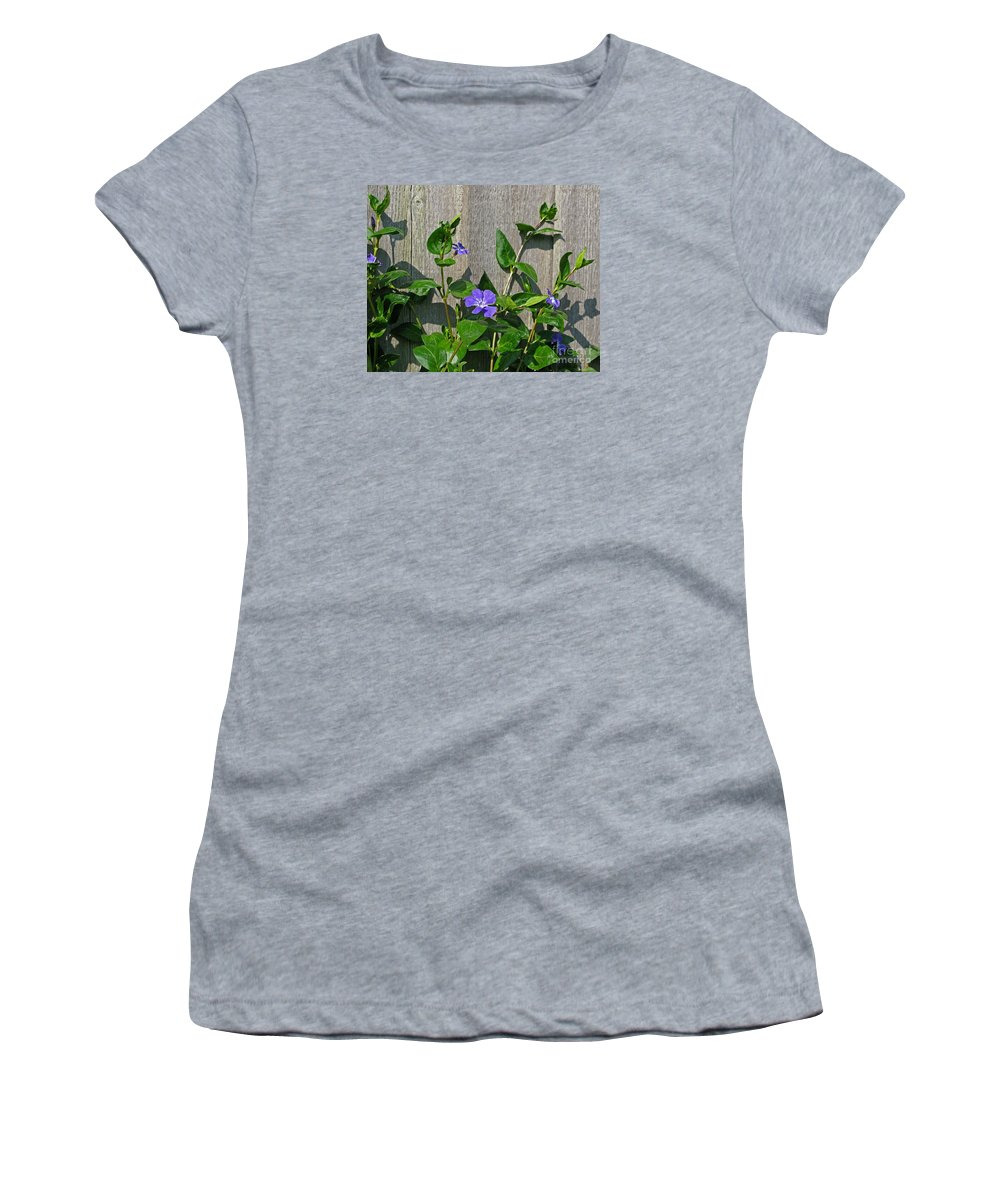 Purple Women's T-Shirt (Athletic Fit) featuring the photograph Wildly Purple by Ann Horn