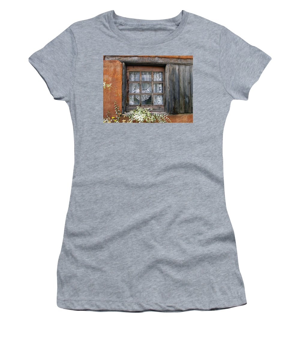 Window Women's T-Shirt (Athletic Fit) featuring the photograph Window At Old Santa Fe by Kurt Van Wagner
