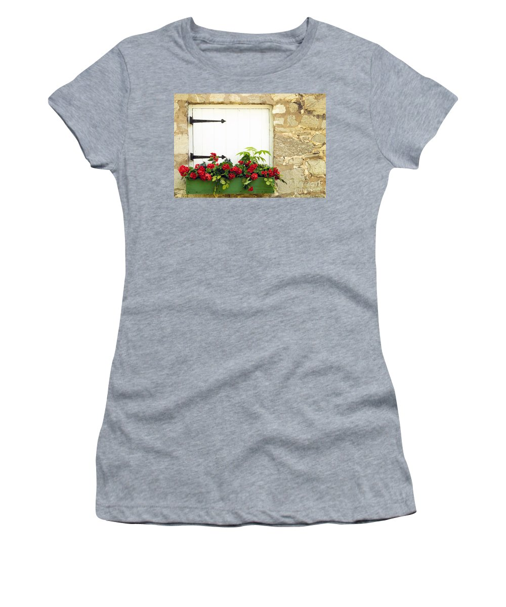 Flowers Women's T-Shirt featuring the photograph Window Box by Paul W Faust - Impressions of Light