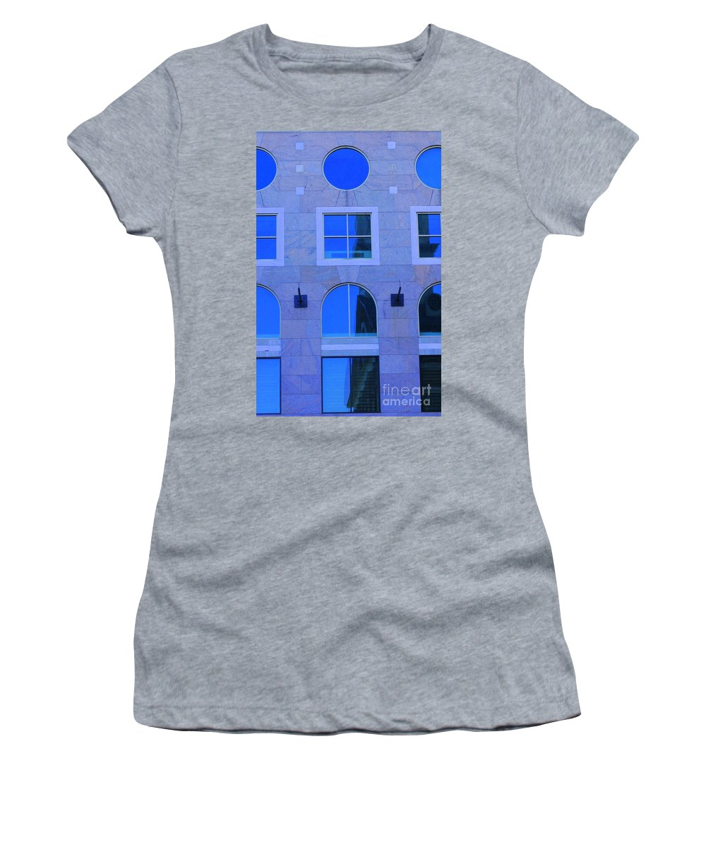 Window Women's T-Shirt (Athletic Fit) featuring the photograph Window Shapes by Kathleen Struckle