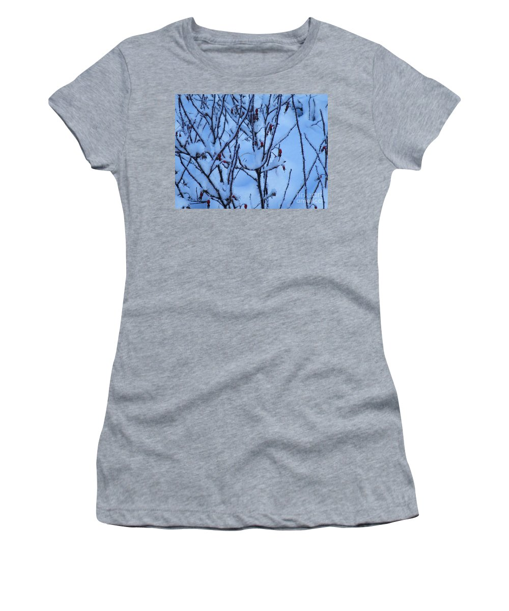 Winter Women's T-Shirt featuring the photograph Winter Roses by Brian Boyle