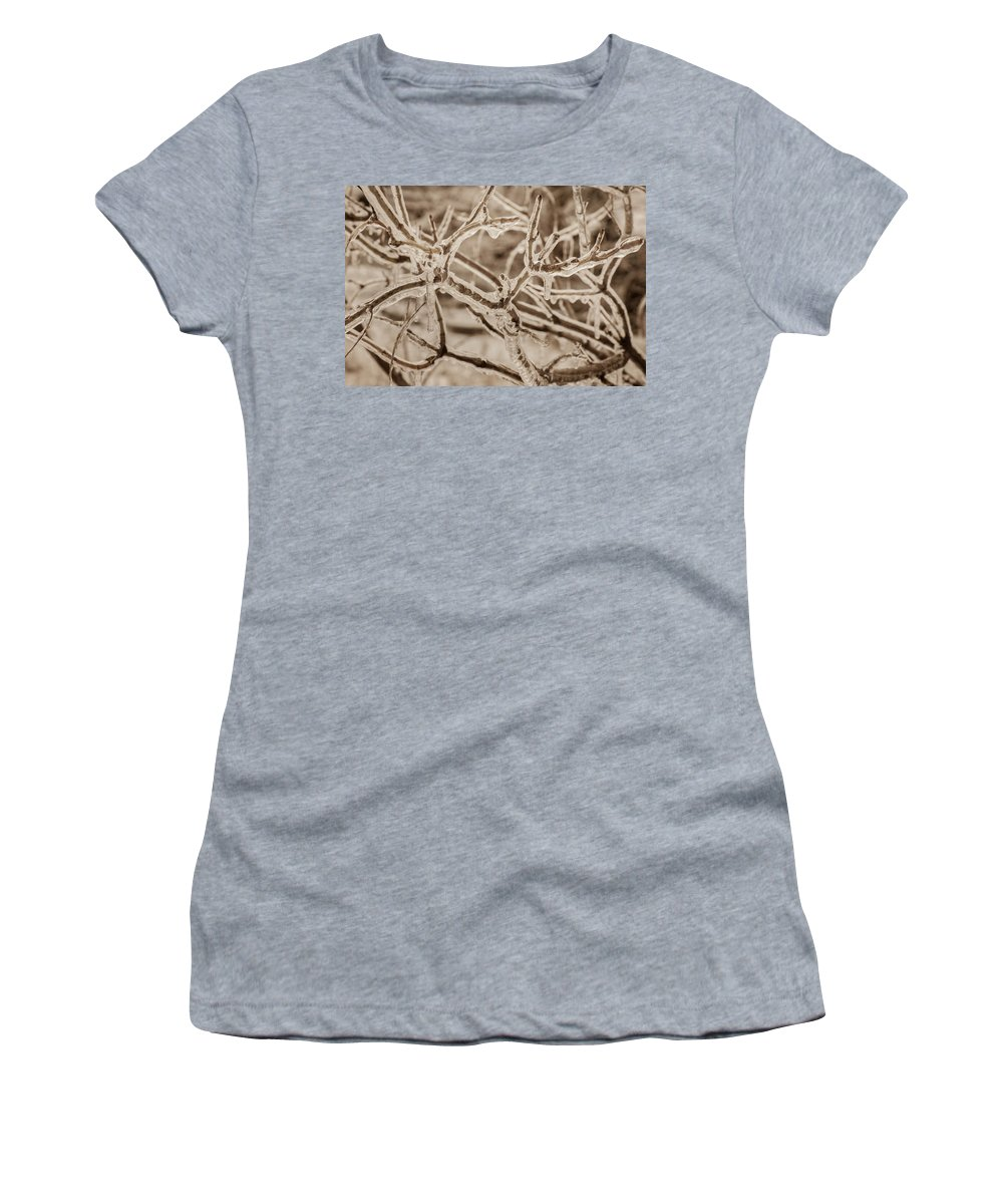 Bill Pevlor Women's T-Shirt featuring the photograph Winter Tangle by Bill Pevlor