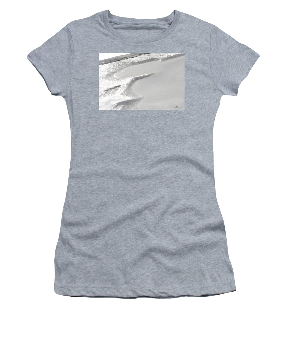 Natural World Women's T-Shirt (Athletic Fit) featuring the photograph Winter's Patterns by Urbanmoon Photography