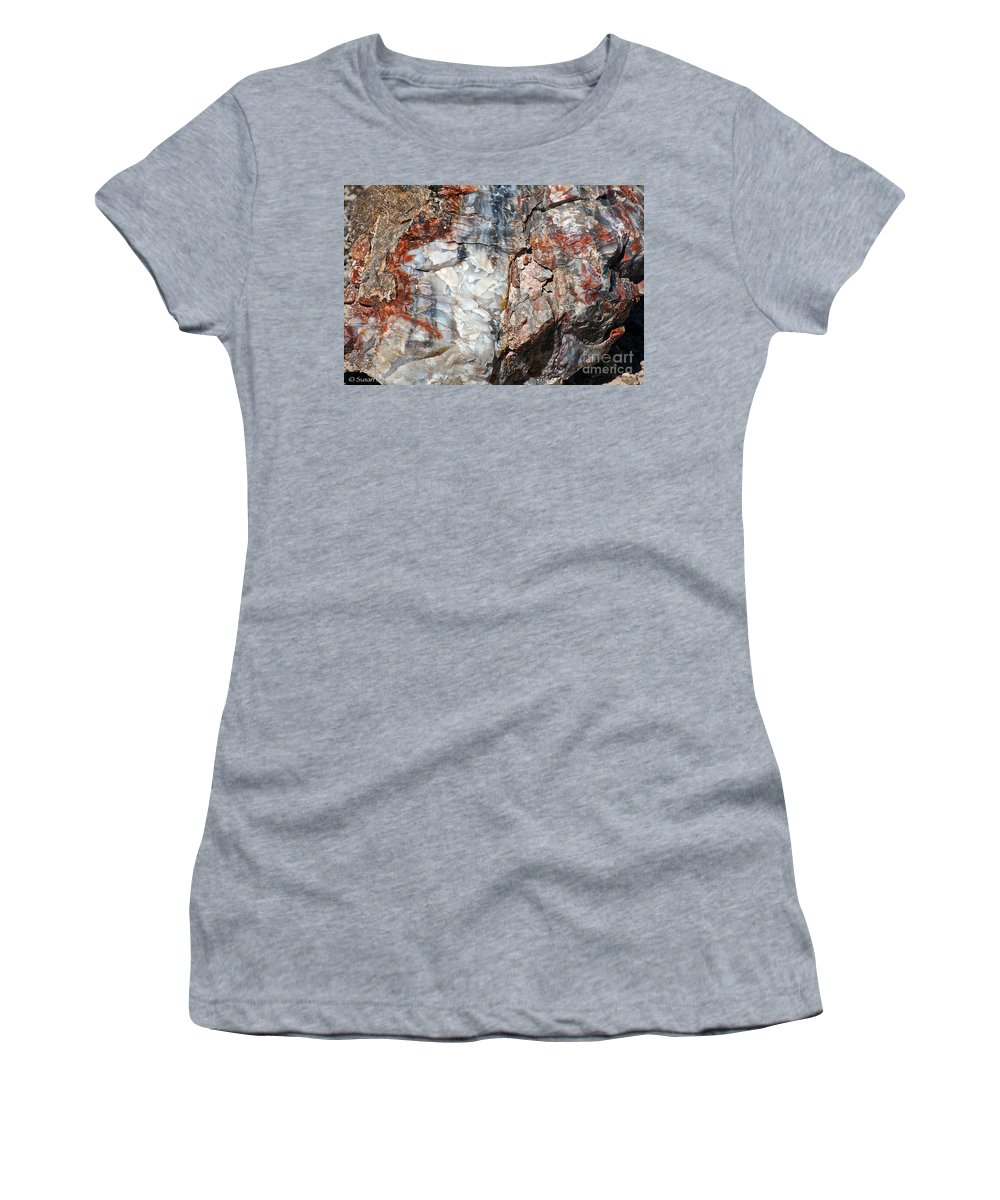 Ancient Women's T-Shirt (Athletic Fit) featuring the photograph Wood From Another Era by Susan Herber