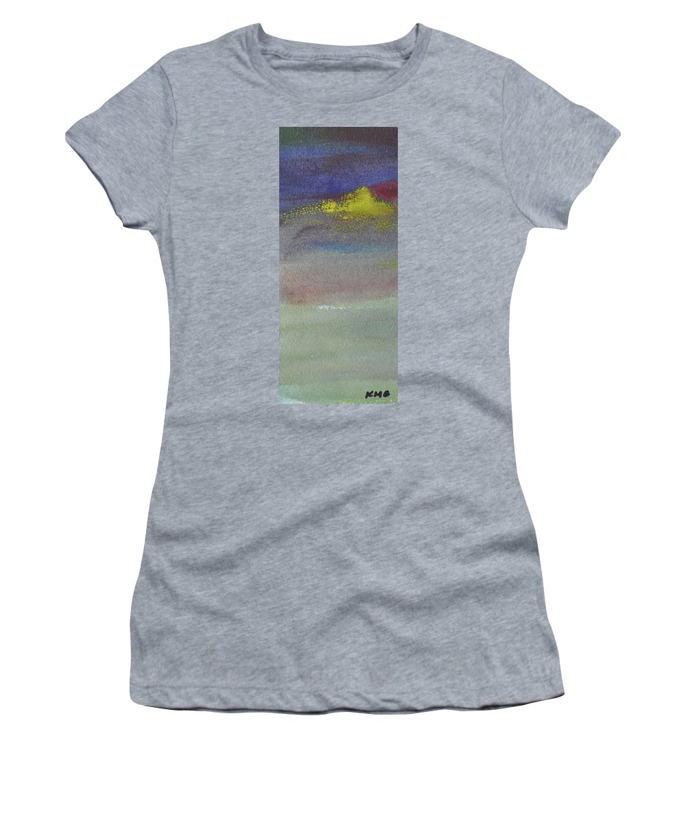 Abstract Women's T-Shirt featuring the painting Yellow Emerges by Kimberly Maxwell Grantier