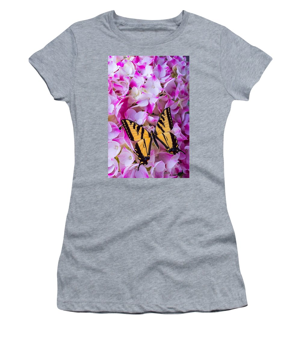 Yellow Women's T-Shirt featuring the photograph Yellow Wings by Garry Gay