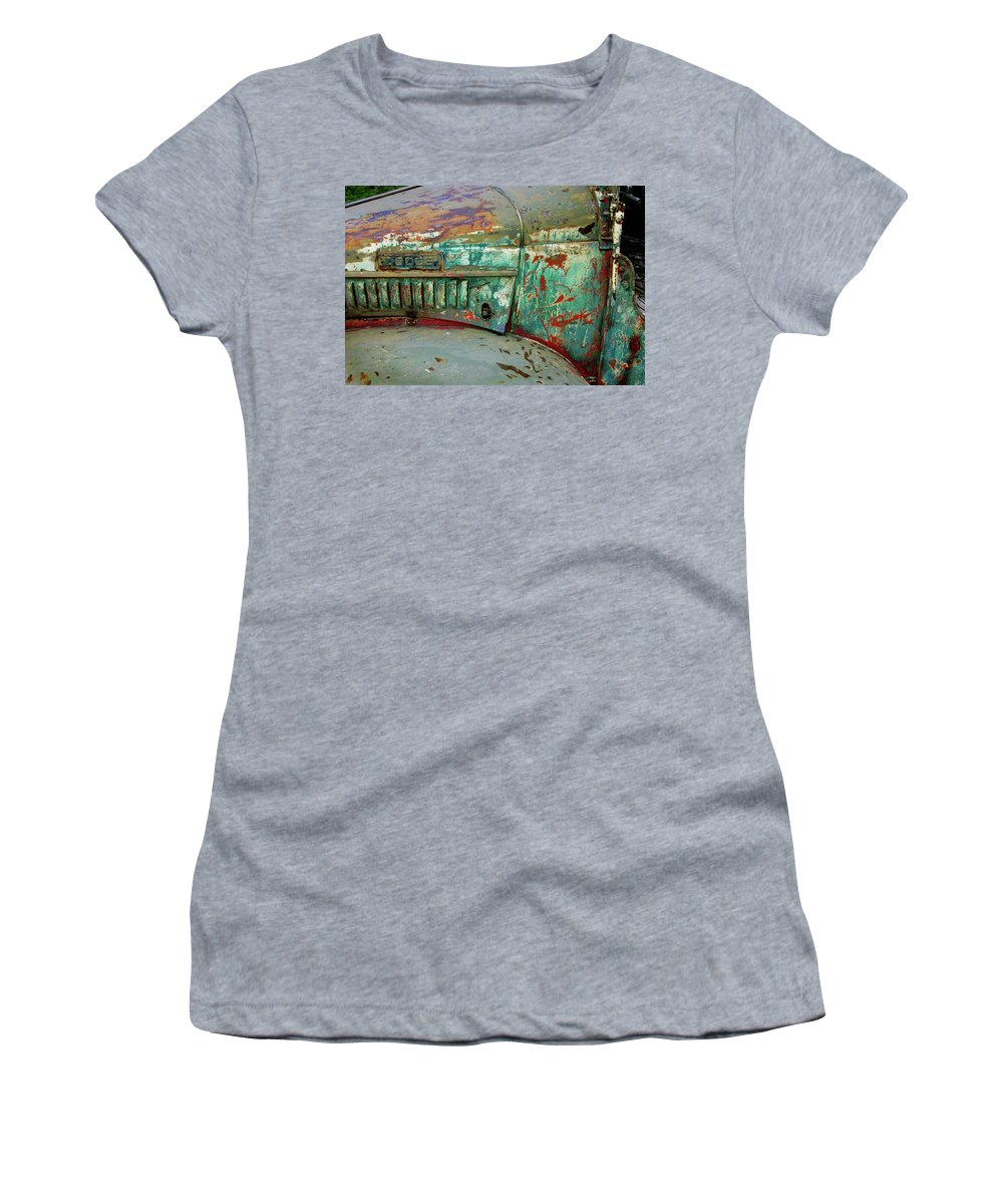 Dodge Women's T-Shirt (Athletic Fit) featuring the photograph Dodge by Ron Weathers