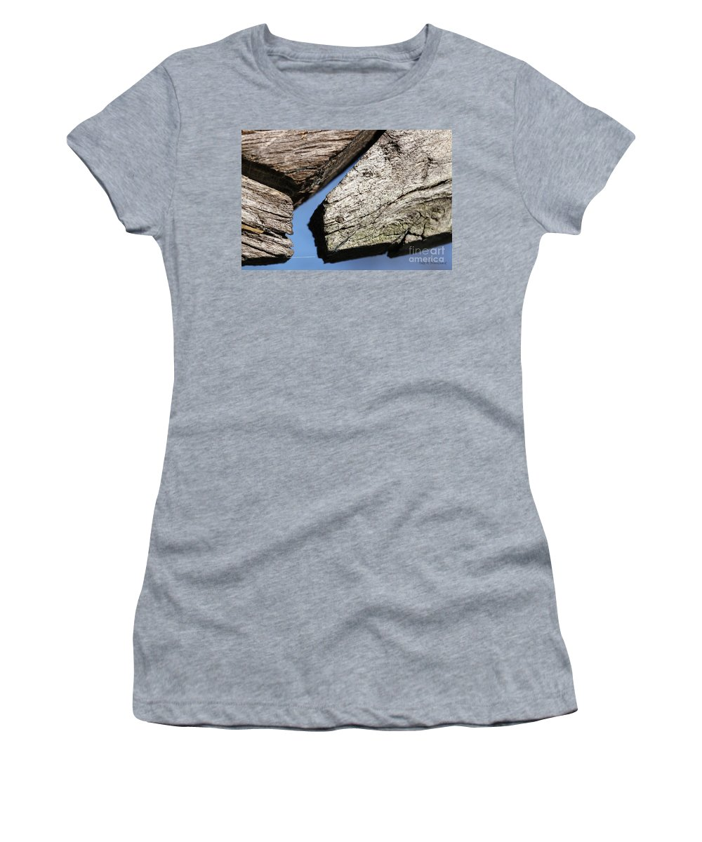Abstract Women's T-Shirt (Athletic Fit) featuring the photograph Abstract With Angles by Todd Blanchard