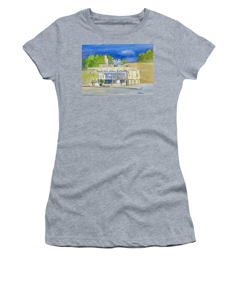 Icecream Store Women's T-Shirt (Athletic Fit) featuring the painting Carls by Diane Elgin