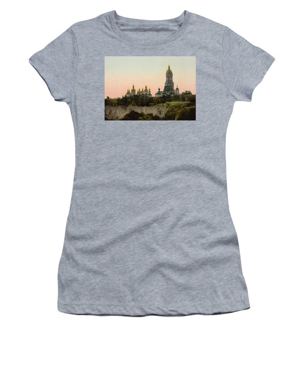 Lavra Women's T-Shirt featuring the photograph La Lavra - Kiev - Ukraine - Ca 1900 by International Images