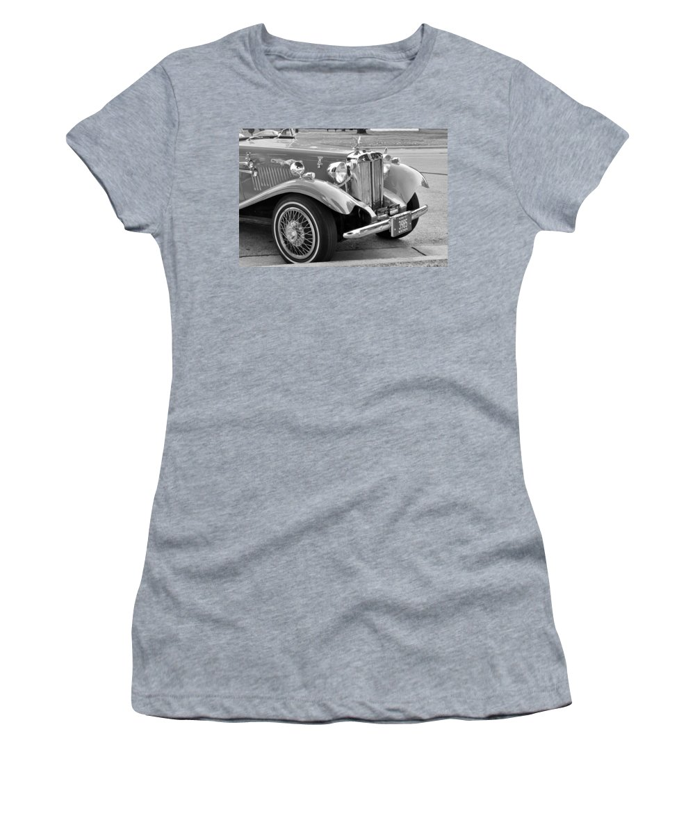 Automobile Women's T-Shirt (Athletic Fit) featuring the photograph Red Roadster by Guy Whiteley