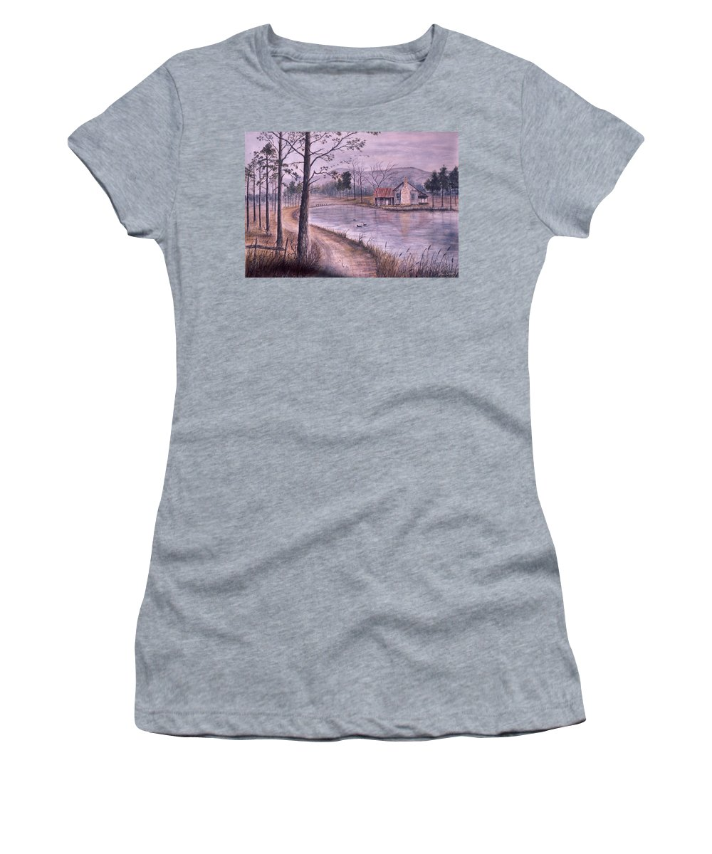 Morning Women's T-Shirt featuring the painting South Carolina Morning by Ben Kiger
