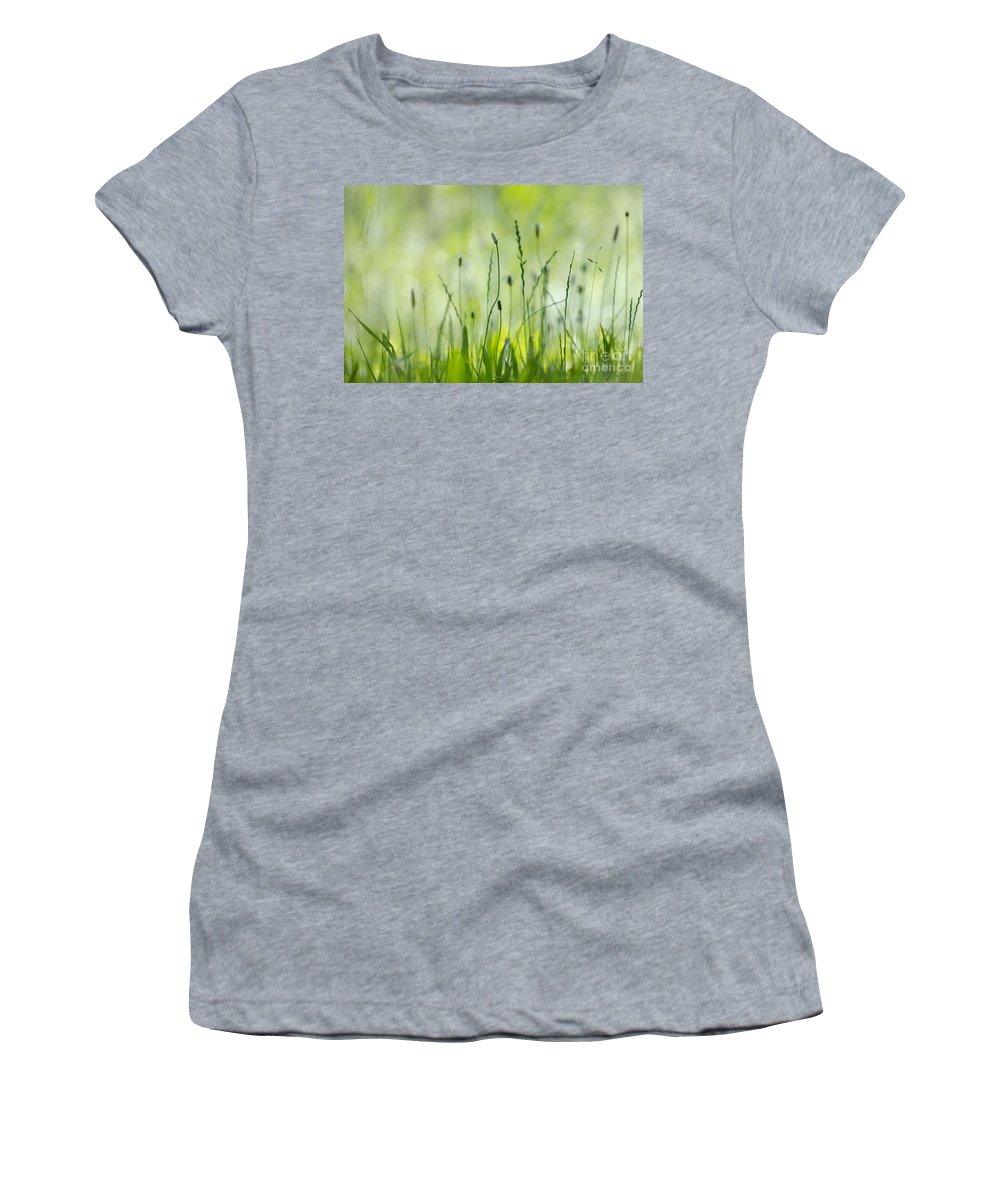 Grass Women's T-Shirt (Athletic Fit) featuring the photograph Green Grass by Mats Silvan
