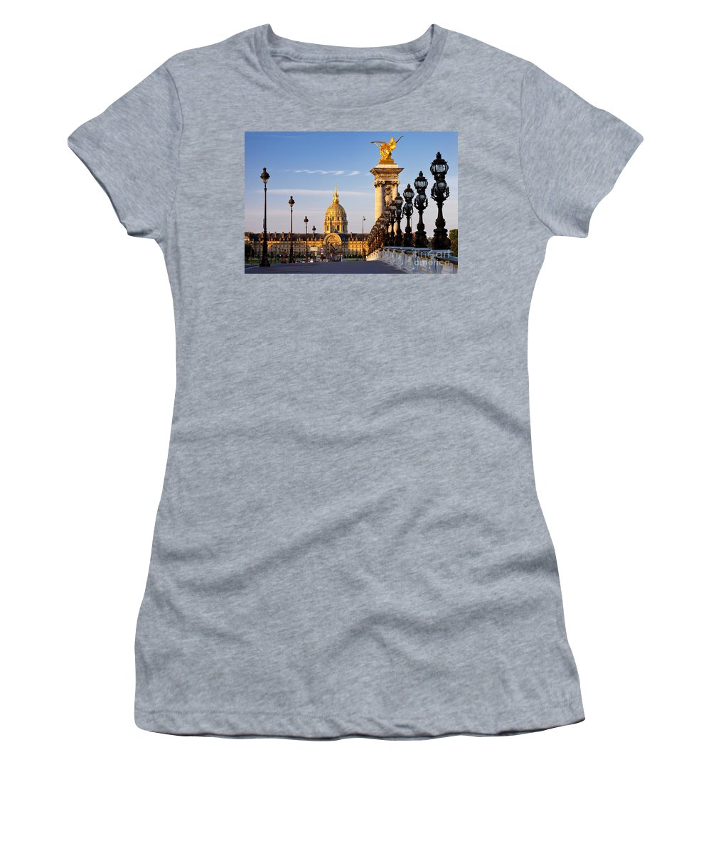 Pont Women's T-Shirt (Athletic Fit) featuring the photograph Les Invalides by Brian Jannsen