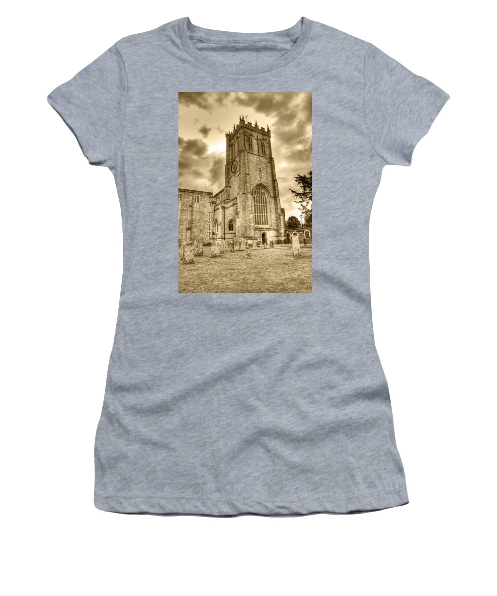 Christchurch Women's T-Shirt featuring the photograph The Priory by Chris Day