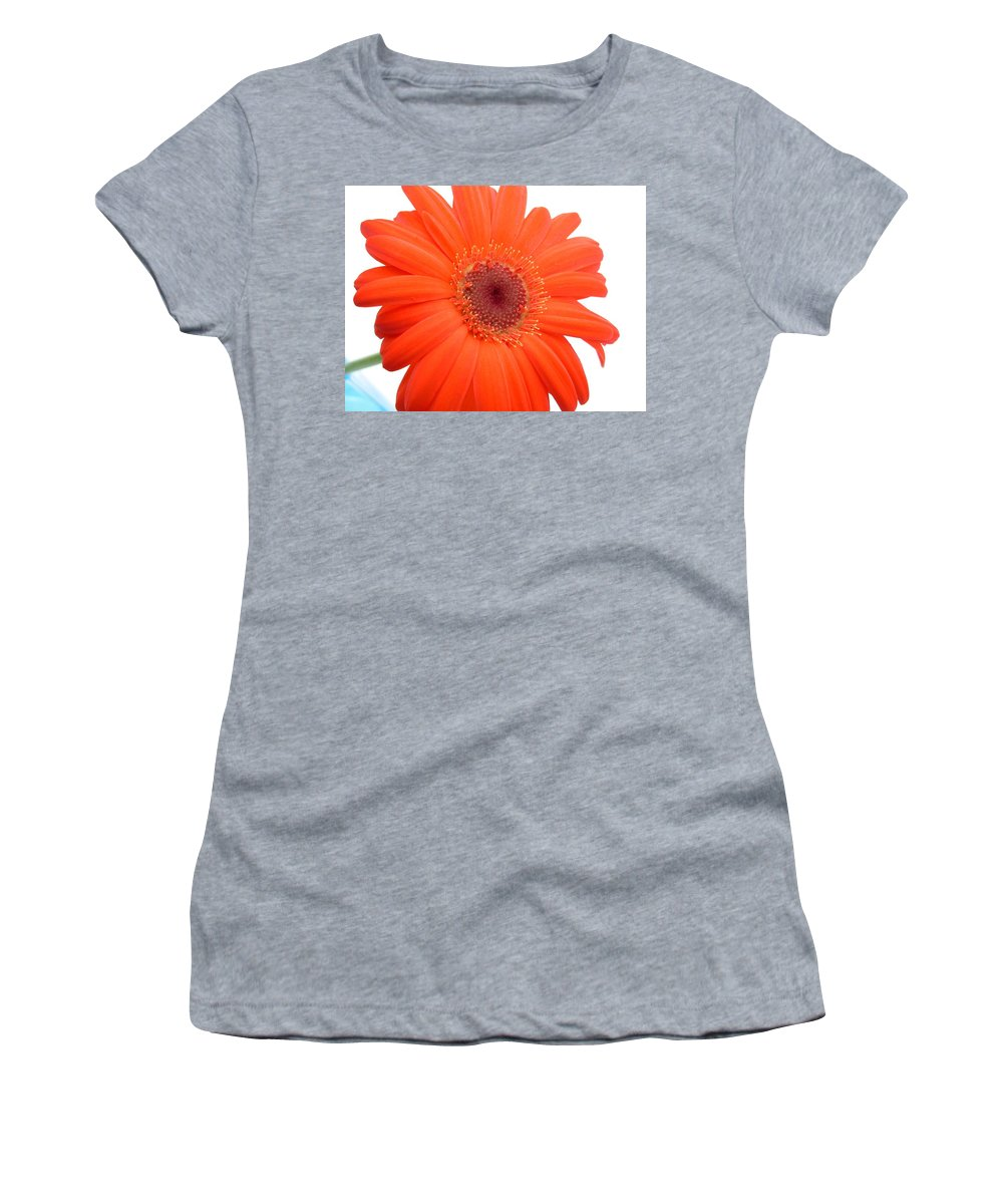 Gerbera Photographs Photographs Photographs Women's T-Shirt (Athletic Fit) featuring the photograph 4992c by Kimberlie Gerner