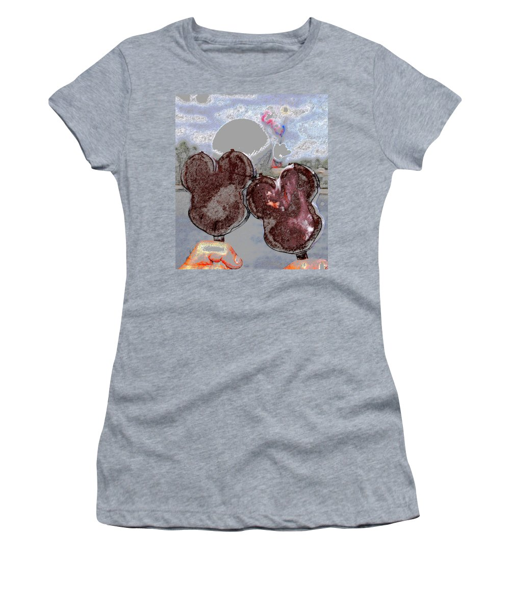 Art Women's T-Shirt featuring the painting A Great Day At Epcot by David Lee Thompson