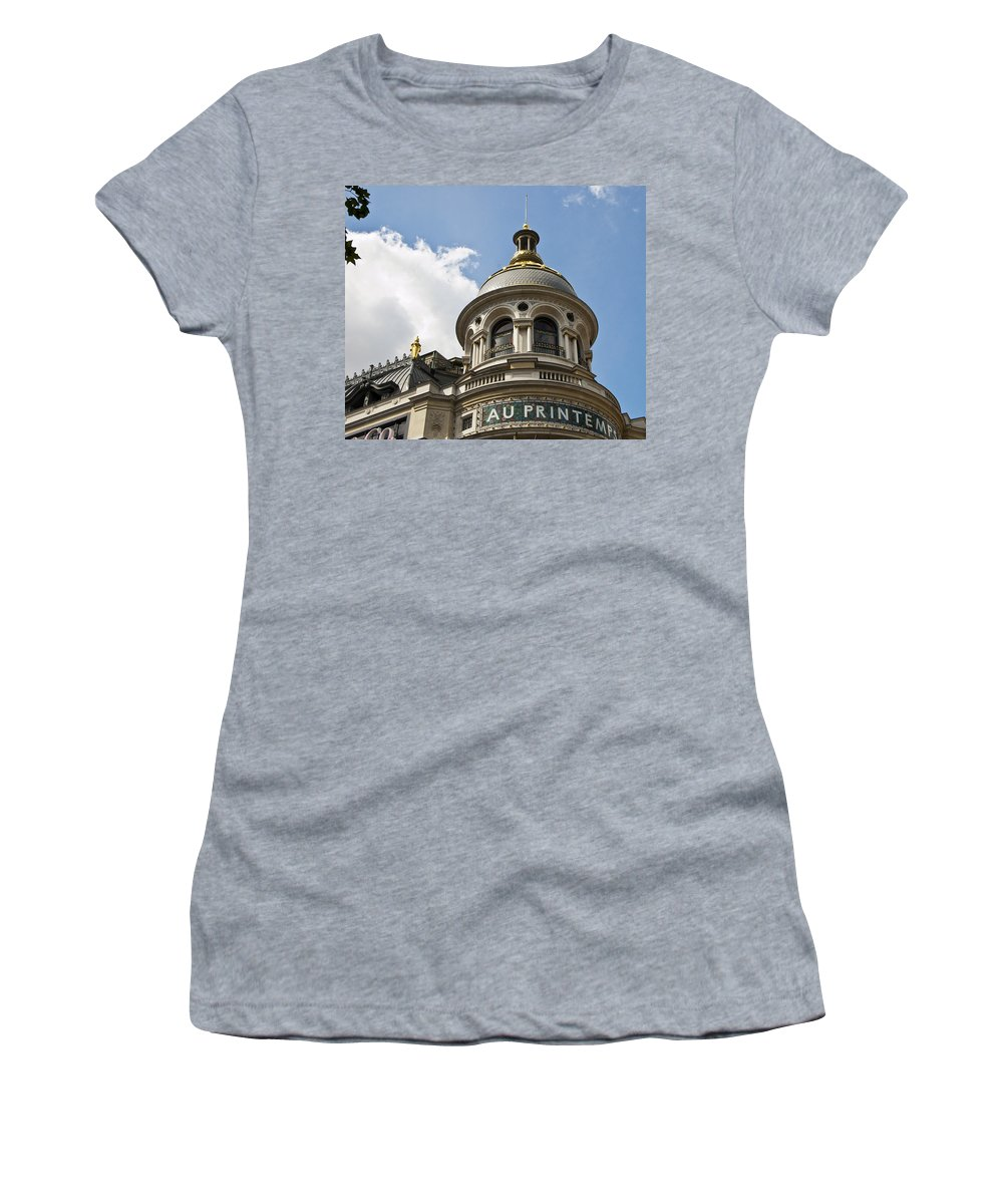 Paris Women's T-Shirt (Athletic Fit) featuring the photograph Au Printemps - Paris by Jon Berghoff