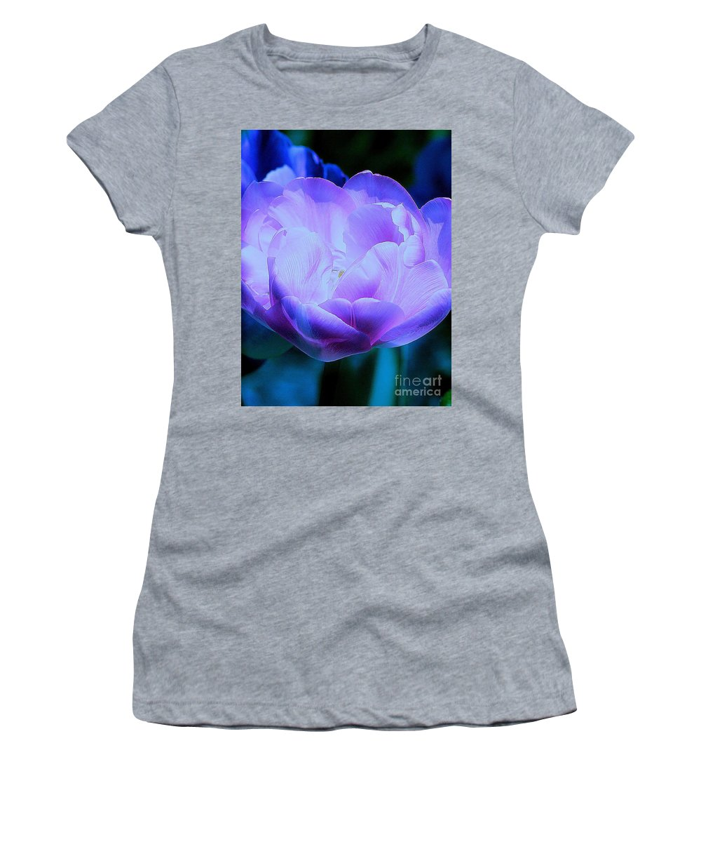 Tulip Women's T-Shirt featuring the photograph Avatar's Tulip by Rory Sagner